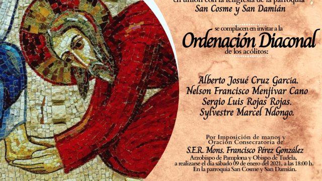 Sigue en vivo las ordenaciones diaconales